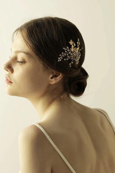 Elegant Alloy&Rhinestone Daily Wear Combs-Barrettes Headpiece with Crystal_4