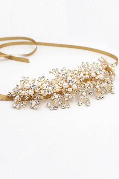 Luxury glamourous Alloy&Rhinestone Special Occasion&Wedding Headbands Headpiece with Imitation Pearls_10
