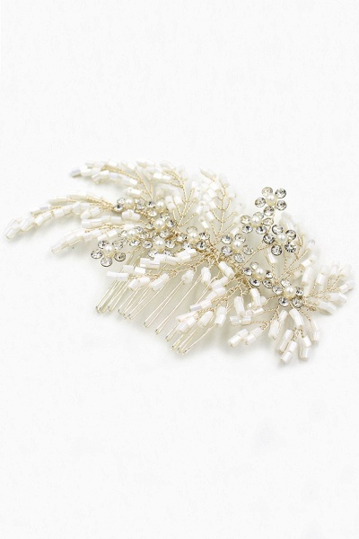 Glamourous Alloy Imitation Pearls Special Occasion Combs-Barrettes Headpiece with Rhinestone_11