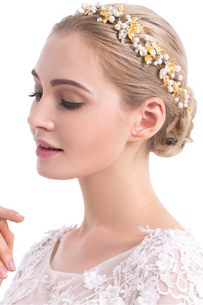 Elegant Alloy&Imitation Pearls Special Occasion Hairpins Headpiece with Rhinestone
