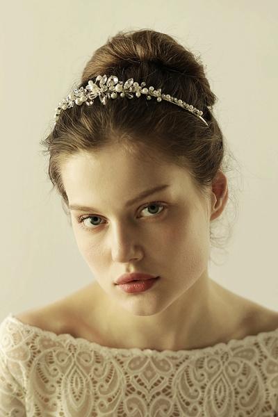 Elegant Alloy Imitation Pearls Special Occasion&Wedding Hairpins Headpiece with Crystal Rhinestone_2