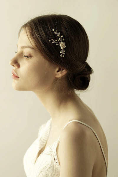Cute Alloy Daily Wear Hairpins Headpiece with Imitation Pearls_8