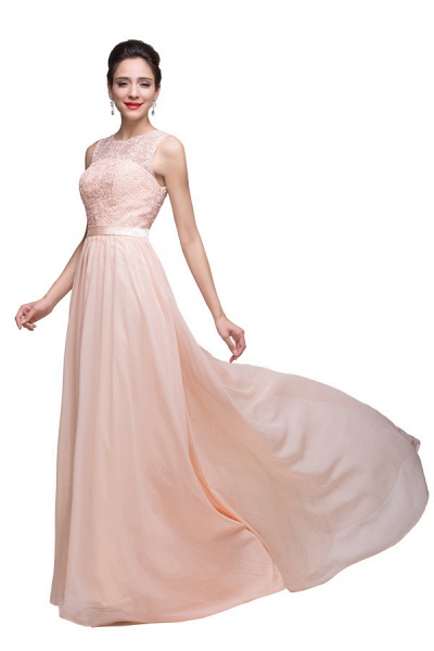 Chiffon A-line Floor Length Bridesmaid Dress_3