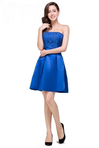 Strapless A-line Mini Bridesmaid Dress_3