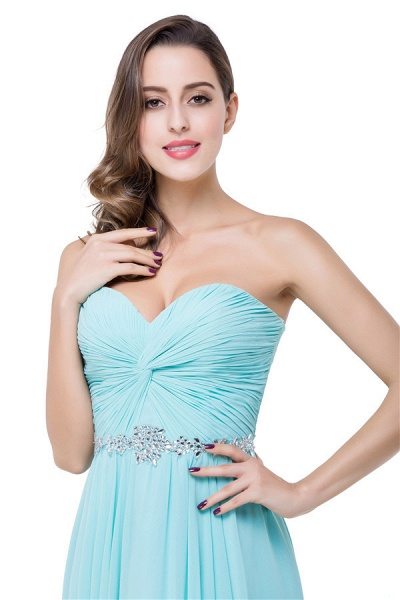 Strapless Chiffon A-line Floor Length Bridesmaid Dress_6