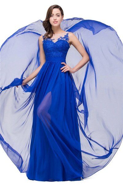 Chiffon A-line Floor Length Bridesmaid Dress_4