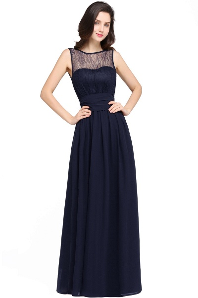 CHARLOTTE |A-line Floor-length Chiffon Sexy Black Prom Dress_5