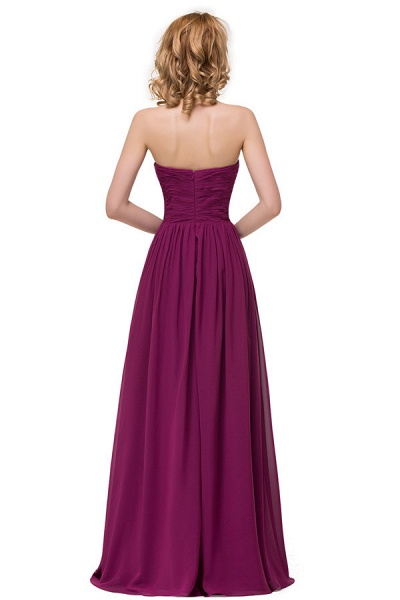 Sweetheart A-line Floor Length Bridesmaid Dress_9
