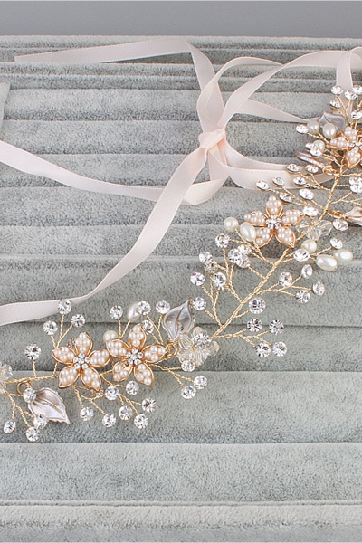 Glamourous Alloy&Imitation Pearls Special Occasion&Party Headbands Headpiece with Rhinestone_4