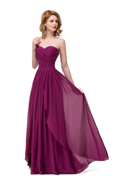 Sweetheart A-line Floor Length Bridesmaid Dress_5