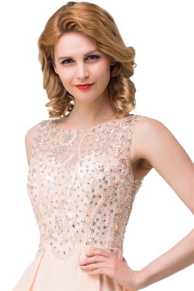Chic Jewel Chiffon A-line Evening Dress_3