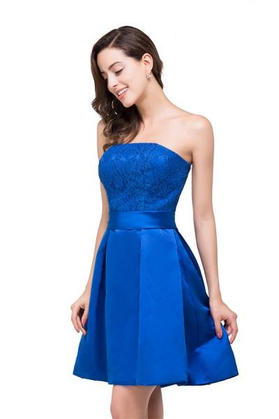 Strapless A-line Mini Bridesmaid Dress_6