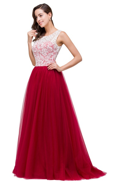 Lace A-line Floor Length Bridesmaid Dress_8