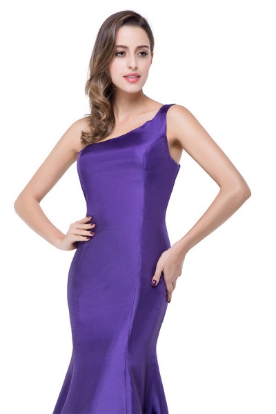 One Shoulder Mermaid Floor Length Bridesmaid Dress_7
