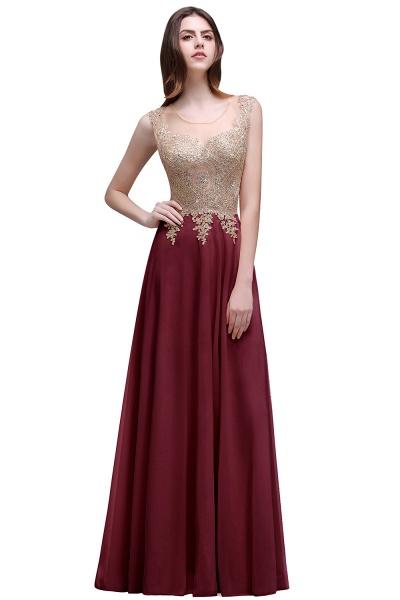 ALAYNA | Sheath Jewel Long Chiffon Evening Dresses With Applique_1