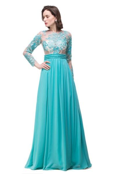 Eye-catching Jewel Chiffon A-line Evening Dress_1