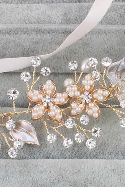 Glamourous Alloy&Imitation Pearls Special Occasion&Party Headbands Headpiece with Rhinestone_6