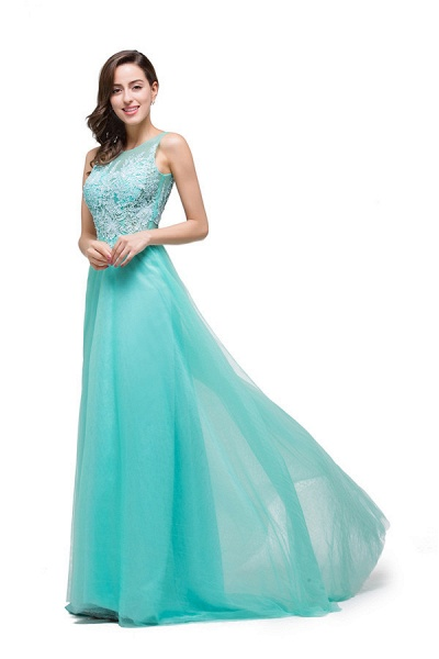 Lace A-line Floor Length Bridesmaid Dress_2