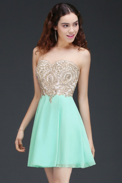 ALIANNA | Sheath Jewel Chiffon Short Homecoming Party Dresses With Applique_2