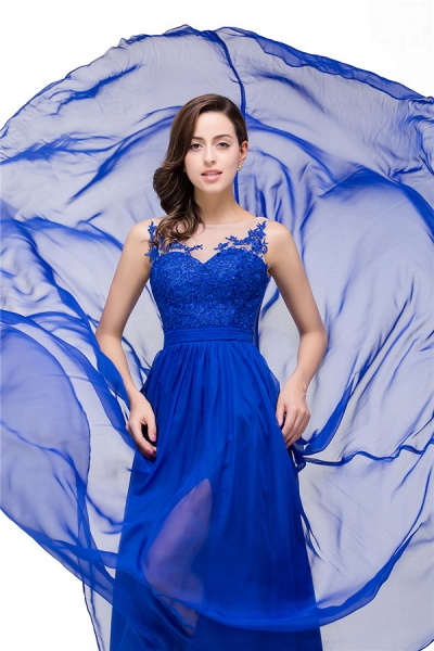 Chiffon A-line Floor Length Bridesmaid Dress_5