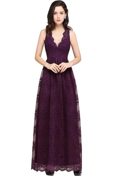 Amazing V-neck Lace Column Bridesmaid Dress_3
