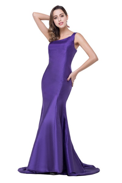 One Shoulder Mermaid Floor Length Bridesmaid Dress_2