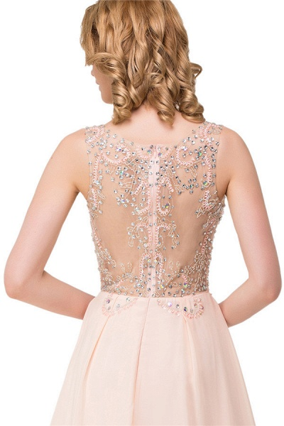 Chic Jewel Chiffon A-line Evening Dress_9