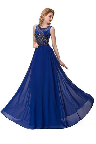 Beautiful Jewel Chiffon A-line Evening Dress_3
