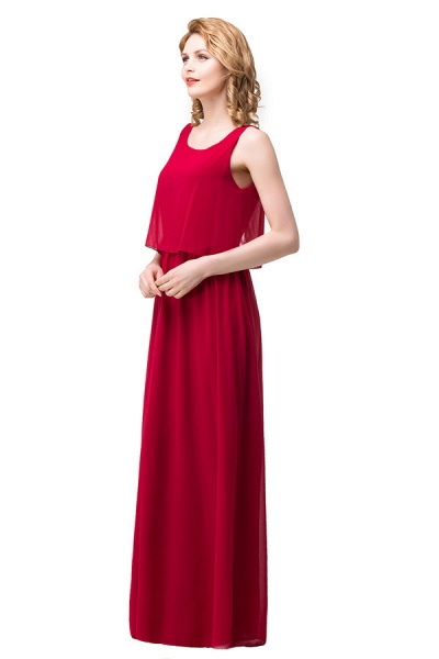 Square Chiffon A-line Floor Length Bridesmaid Dress_7