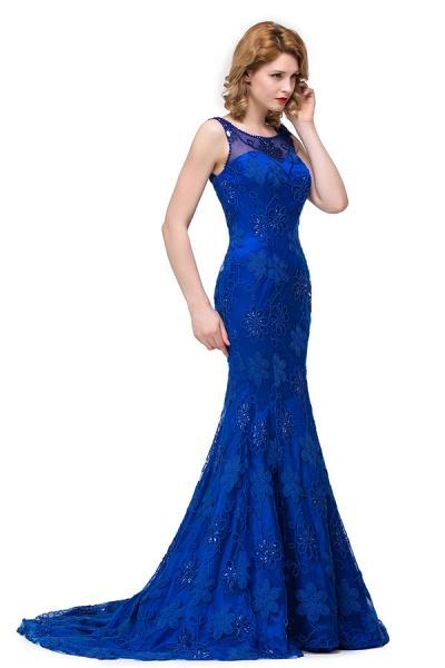 Modest Jewel Taffeta Mermaid Evening Dress_5