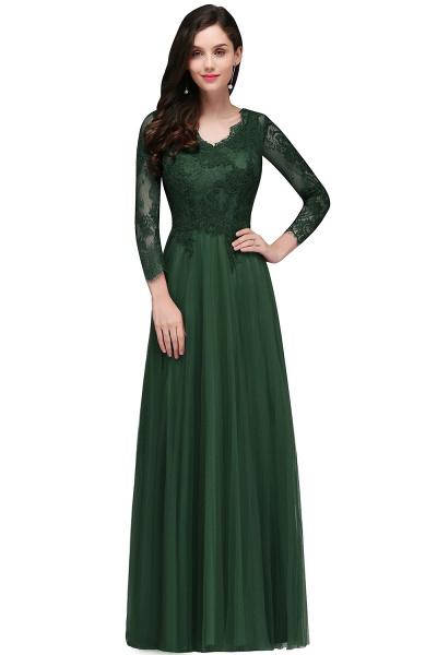 Marvelous V-neck Tulle A-line Prom Dress_3