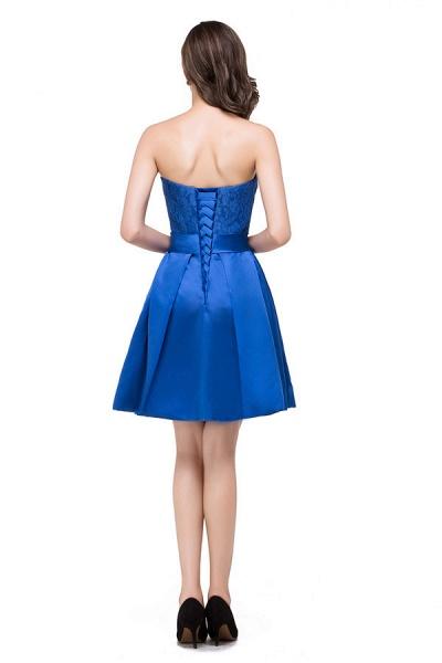 Strapless A-line Mini Bridesmaid Dress_8