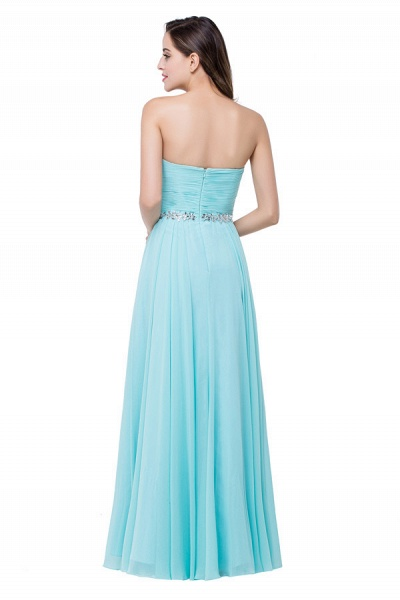 Strapless Chiffon A-line Floor Length Bridesmaid Dress_3
