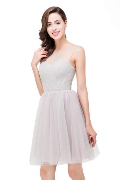 Chiffon A-line Mini Bridesmaid Dress_3