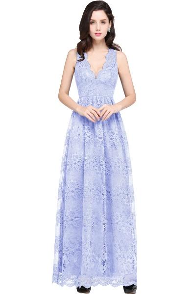Amazing V-neck Lace Column Bridesmaid Dress_4