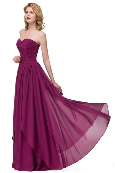 Sweetheart A-line Floor Length Bridesmaid Dress_8