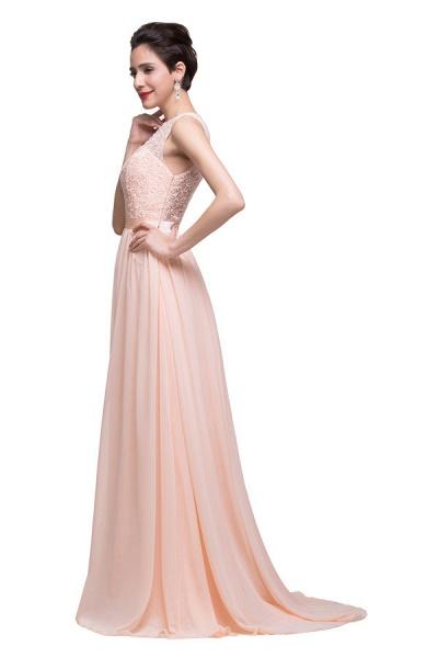 Chiffon A-line Floor Length Bridesmaid Dress_5