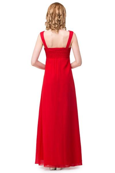 V-neck Chiffon A-line Knee Length Bridesmaid Dress_7