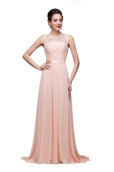 Chiffon A-line Floor Length Bridesmaid Dress_6
