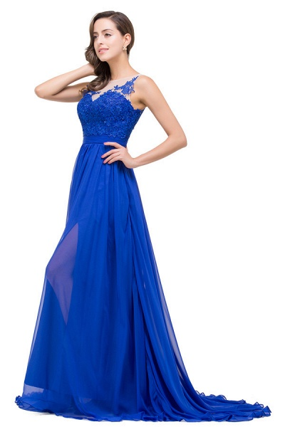 Chiffon A-line Floor Length Bridesmaid Dress_6