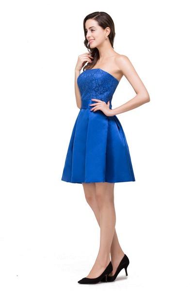 Strapless A-line Mini Bridesmaid Dress_5