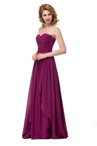 Sweetheart A-line Floor Length Bridesmaid Dress_2