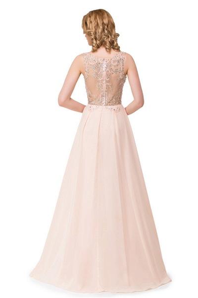 Chic Jewel Chiffon A-line Evening Dress_8