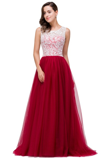 Lace A-line Floor Length Bridesmaid Dress_5
