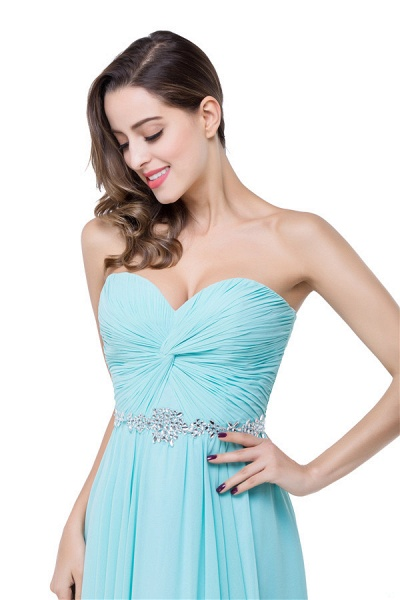 Strapless Chiffon A-line Floor Length Bridesmaid Dress_7