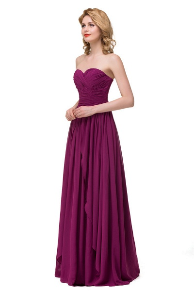 Sweetheart A-line Floor Length Bridesmaid Dress_6