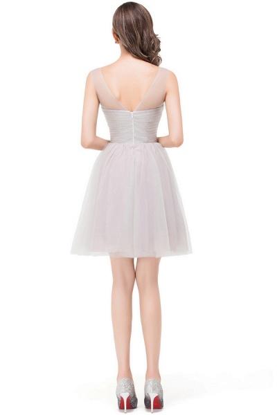 Chiffon A-line Mini Bridesmaid Dress_8
