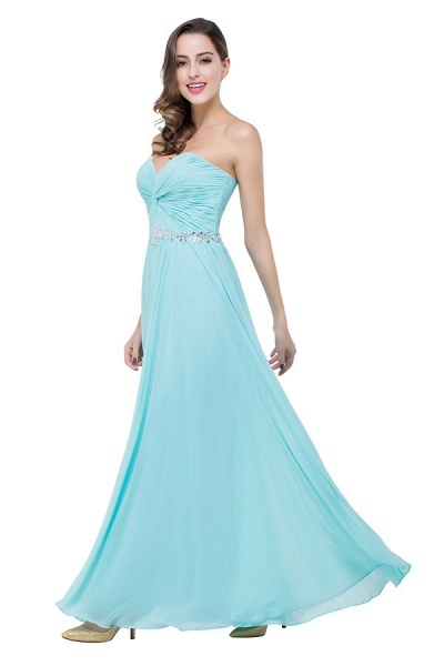 Strapless Chiffon A-line Floor Length Bridesmaid Dress_5