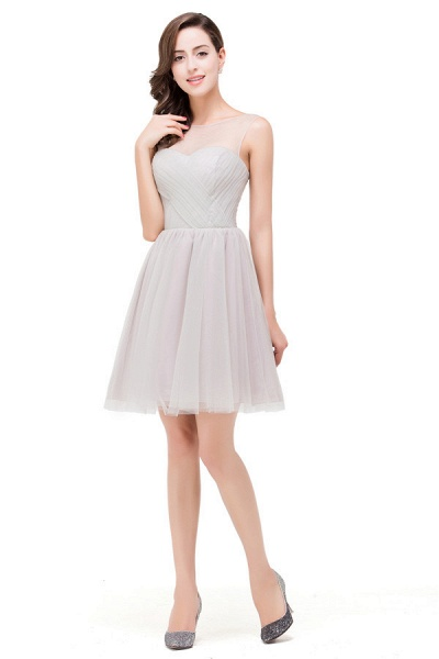 Chiffon A-line Mini Bridesmaid Dress_5