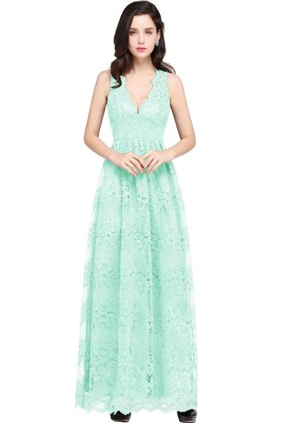 Amazing V-neck Lace Column Bridesmaid Dress_8